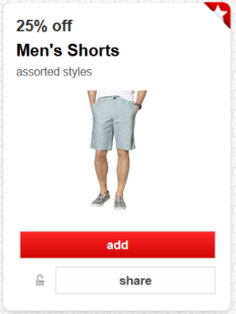 target cartwheel offer men shorts pic
