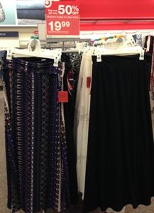 target maxi skirts