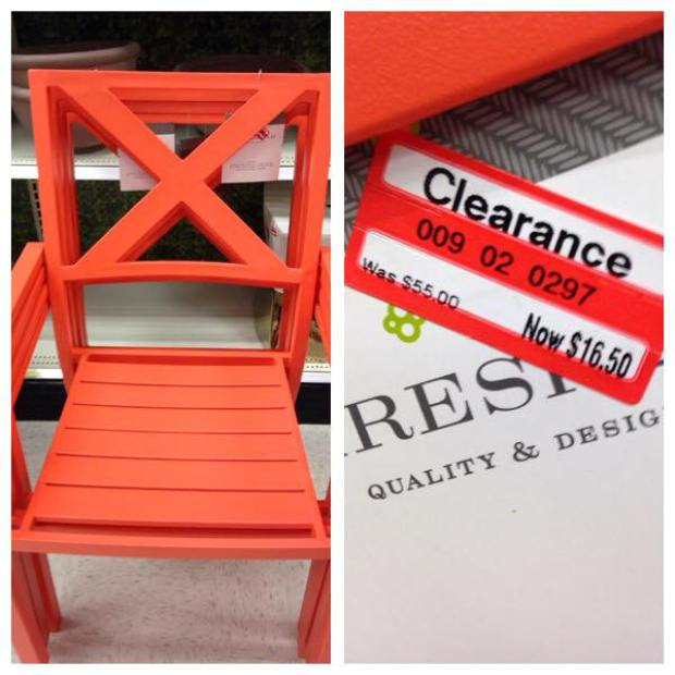 target read clear new monica orange chair
