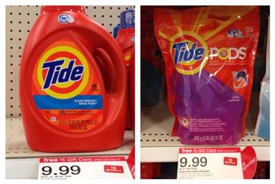 target tide detergent collage pic
