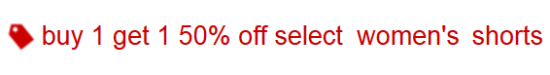 target.com bogo women shorts deal