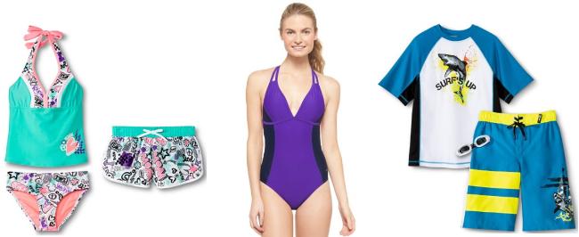 target.com swimwear collage pic