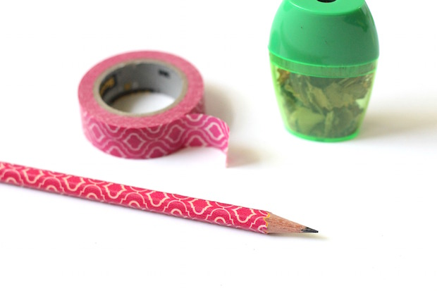 Back To School DIY: Washi Tape Pencils