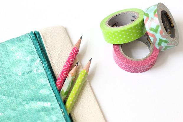 Back To School DIY: Washi Tape Pencils