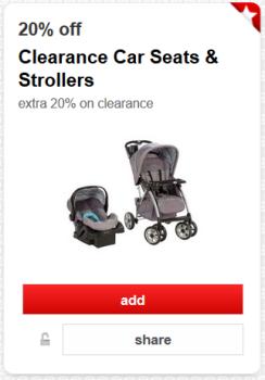 target cartwheel car seat stroller pic'