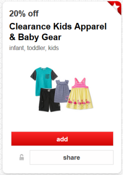 target cartwheel offer clearance kids pic