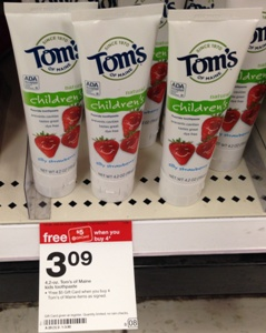 target toms of maine kids toothpaste