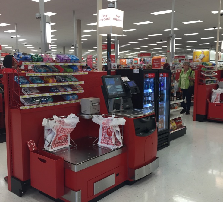 Newly Remodeled Target Store With Self Checkout All