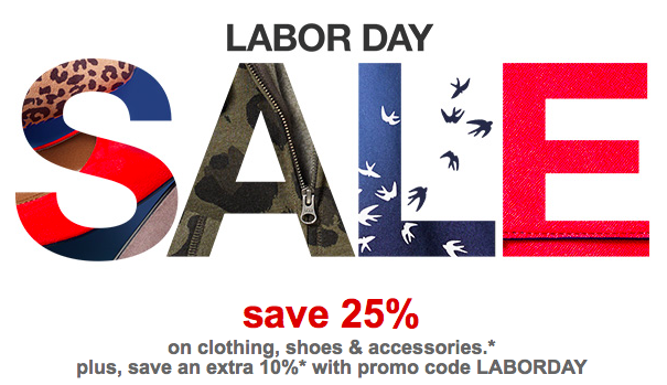 Target Com Labor Day Sale 25 Off Clothing Shoes Access Extra
