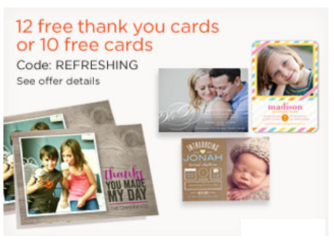 shutterfly card deal pic