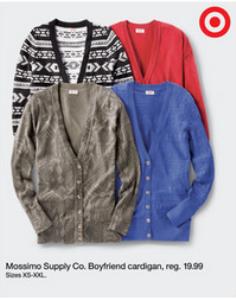 target ad cardigan