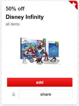 target cartwheel offer disney infinity pic