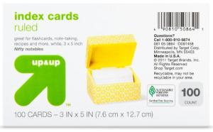 target index card