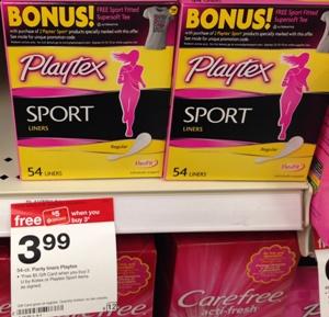 target playtex sport