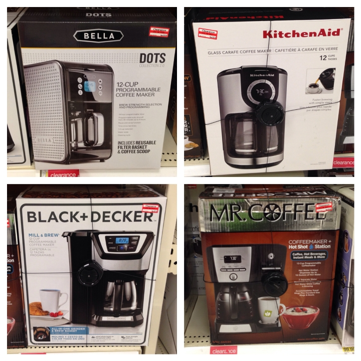 target read clear coffee maker 30