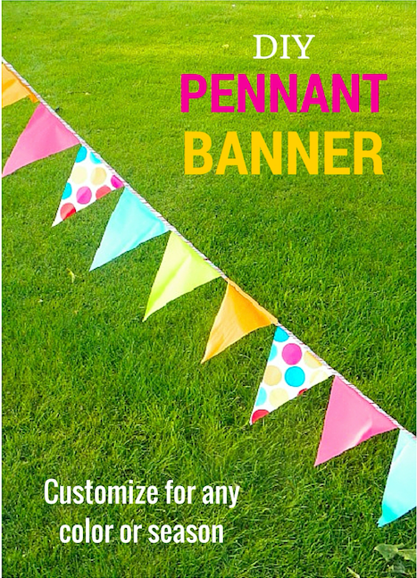 DIY Pennant Banner - Customize for any color or season