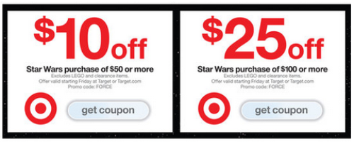 Target: $10 Off $50 Or $25 Off $100 Star Wars Purchase