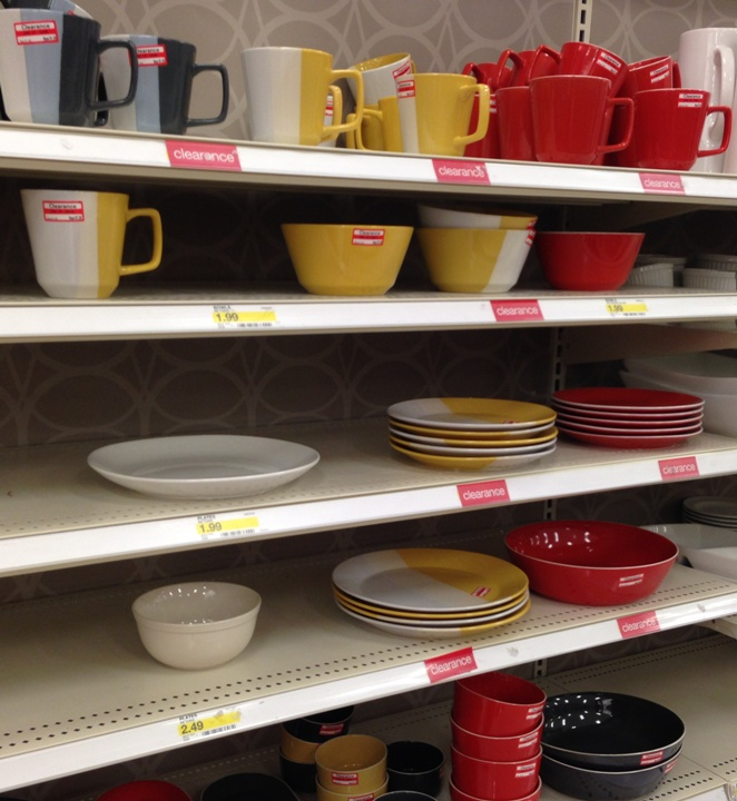 target clear dishes 30