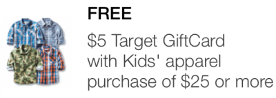 target mobile coupon  kids pic