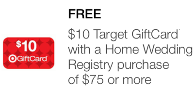 Wedding Gift Card Target : Target Mobile Coupon USD10 Gift Card with USD75 Home Wedding Registry ...