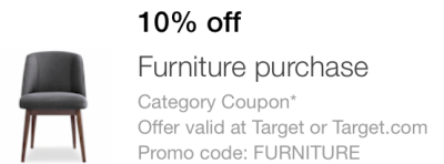Target Mobile Coupon Save 10 Off Furniture Purchase All Things Target