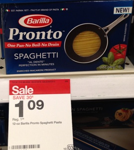 target pronto pasta