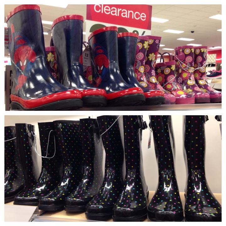 target read clear rain boots 50