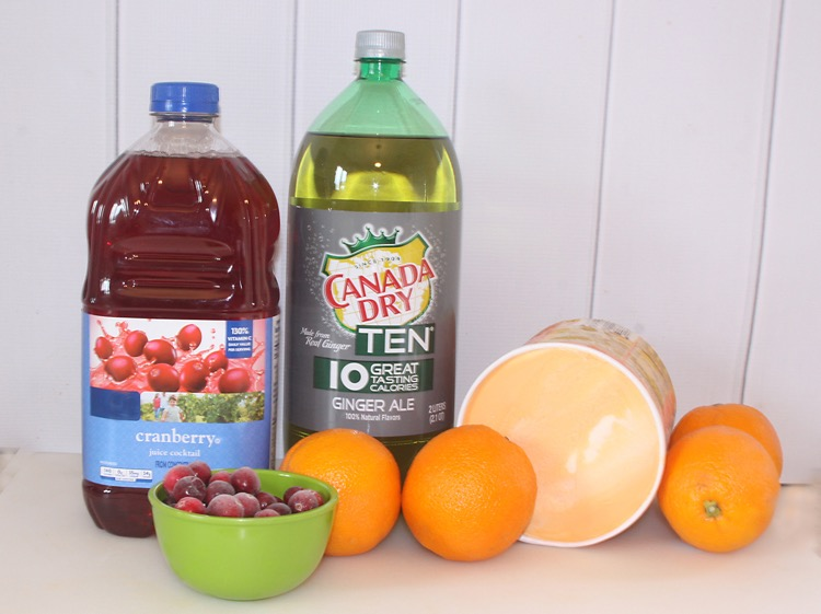 Festive Cranberry Orange Punch Ingredients