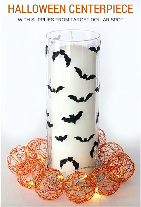 Halloween Centerpiece with supplies for Target Dollar Spot