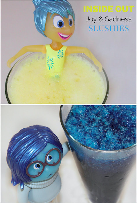 Inside Out Joy & Sadness Slushies