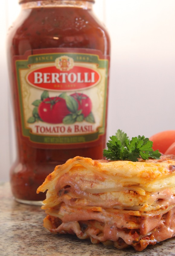 Luscious Rosa Lasagna with Bertolli.