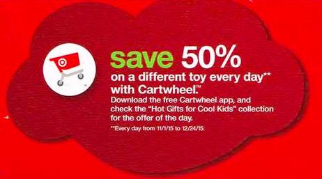 Target 50 off Toy Cartwheel