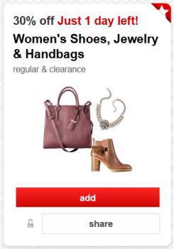target cartwheel handbags deal pic