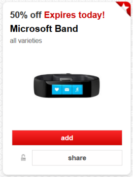 target cartwheel offer microsoft band deal pic