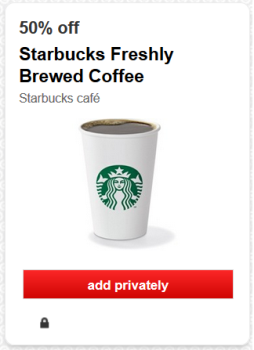 target starbucks cartwheel offer deal pic