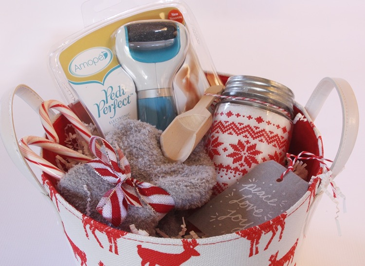 Pedicure Gift Basket with Amope Pedi Perfect Electronic Foot File