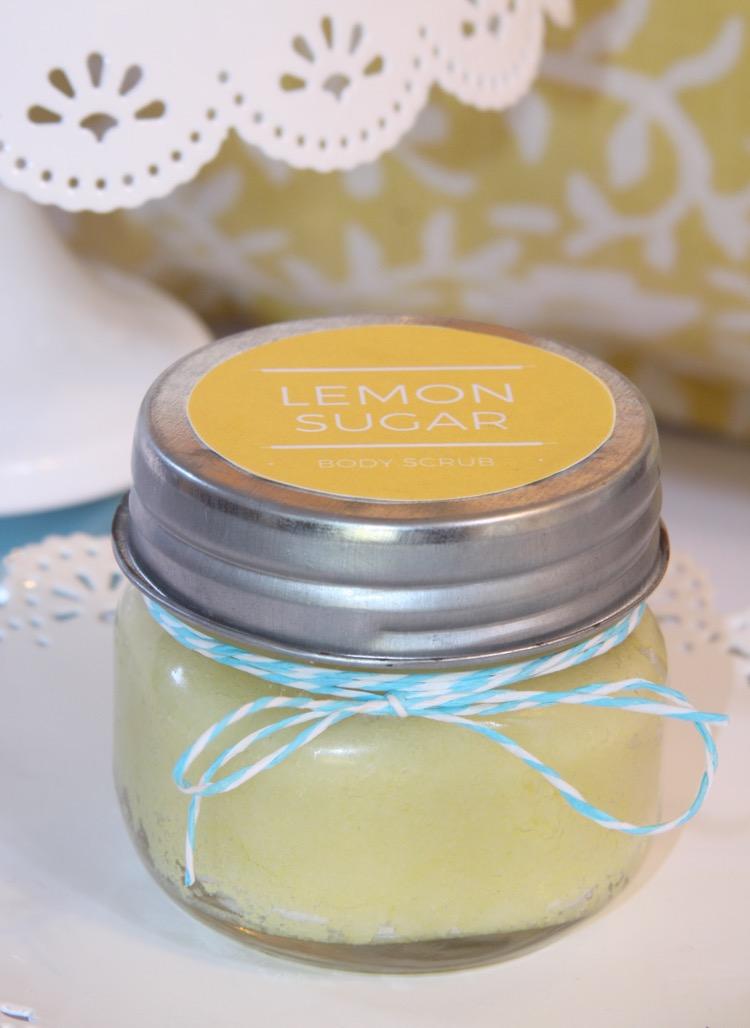 Homemade Lemon Sugar Body Scrub