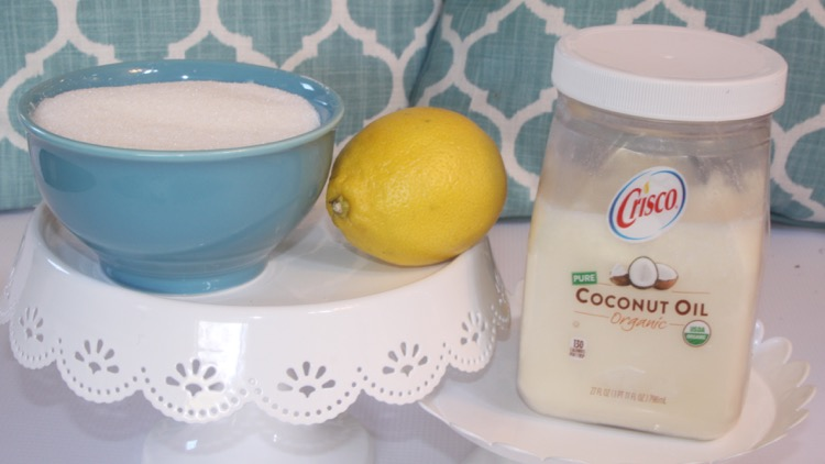 ingredients for Lemon Sugar Body Scrub