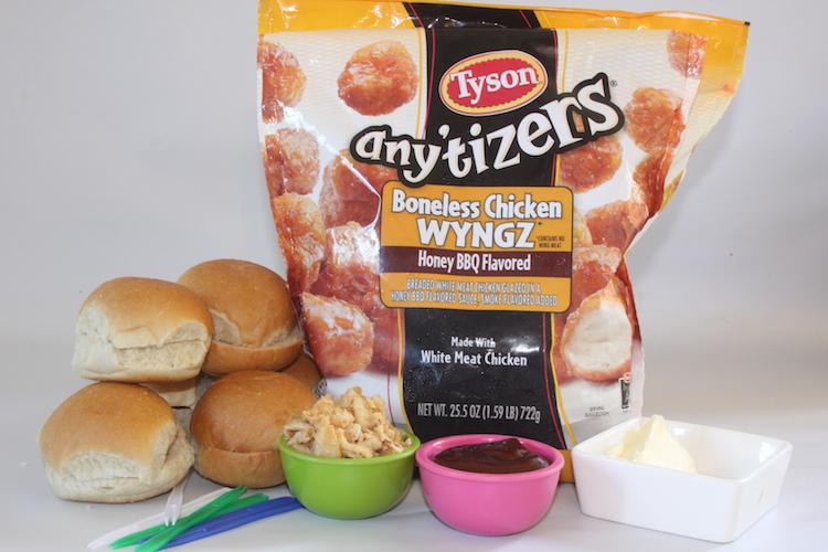 Ingredients for BBQ Chicken Sliders