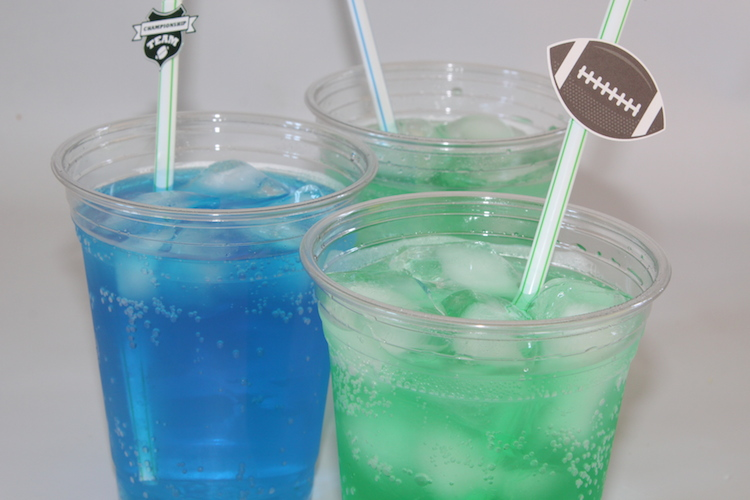 Blue & Green food coloring added to 7up for my home team