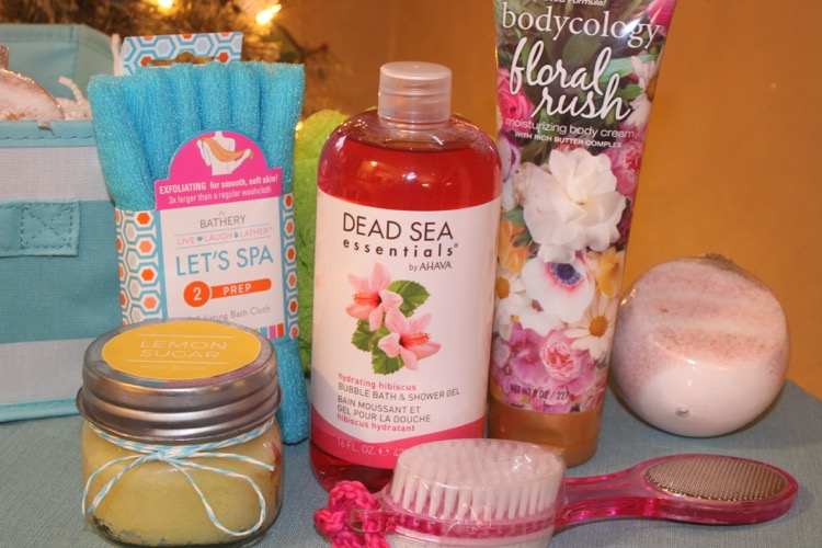 The Bathery Gift Basket contents