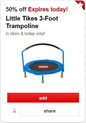 Offer  50  o...Best Price For Little Tikes 7' Trampoline