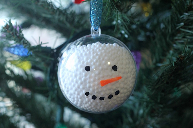 Easy DIY Snowman Ornament