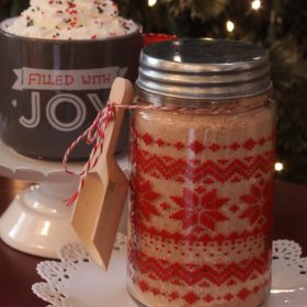 Hot Cocoa Gift Basket with Homemade Hot Cocoa Mix