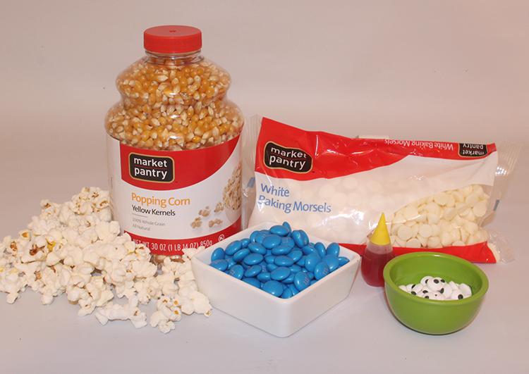 Minions Popcorn ingreditents