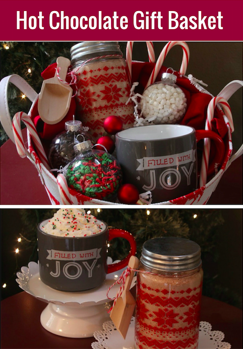 Hot Cocoa Gift Basket With Homemade Hot Cocoa Mix All