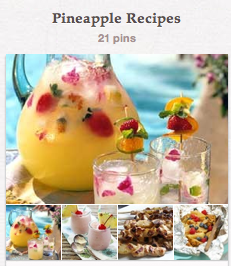 pintrest board pineapple