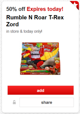 target cw offer power rangers pic