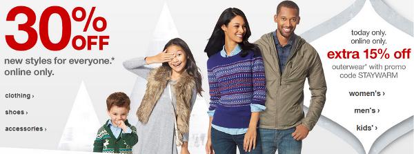 Target.com: 30% off Clothes & more + Extra 15% off ...
