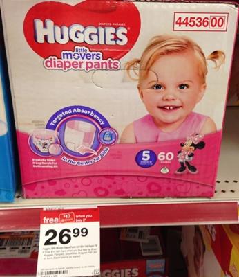target huggies diaper pants